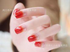 Nail đẹp màu đỏ kiểu Ombre nổi bật, phong cách