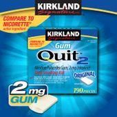Kẹo cai thuốc lá Kirkland Gum Quit 2 của Mỹ 190 viên