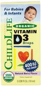 Childlife vitamin D3 organic 400IU dạng nước của Mỹ