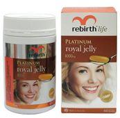 Sữa ong chúa Rebirth của Úc Platinum Royal Jelly 1000mg