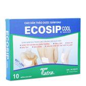 Cao dán thảo dược giảm đau Ecosip Cool(2 gói x 5 miếng/ hộp)