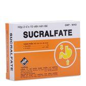 Thuốc trị loét dạ dày- tá tràng Sucralfate (2 vỉ x 10 viên)