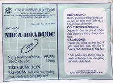 Bột muối NBCA- Hoaduoc hỗ trợ giảm chứng đau dạ dày (100g)