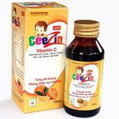 Siro hỗ trợ tăng đề kháng, phòng thiếu hụt vitamin Ceezin 100ml