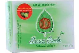 Bột sủi thanh nhiệt Sensa Cools hộp 6 gói