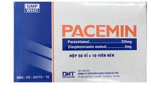 Thuốc trị cảm cúm, nhức đầu Pacemin vỉ 10 viên