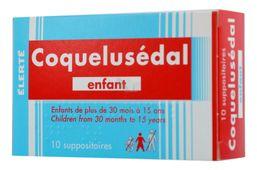Viên đặt Coquelusedal Enfant cho bé từ 30 tháng đến 15 tuổi