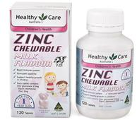 Viên uống Healthy Care ZinC Milk Flavour bổ sung kẽm cho bé