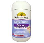 Viên hỗ trợ bổ sung Canxi + Vitamin D3 Kids Smart Nature's Way