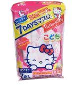 Set 7 khẩu trang Hello Kitty cho trẻ emcủa Nhật