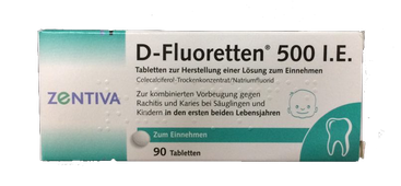 Vitamin D Fluoretten 500 I.E Của Đức Cho Trẻ Sơ Sinh