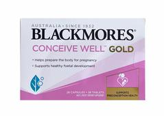 Blackmores Conceive Well Gold hỗ trợ khả năng thụ thai ở nữ giới