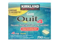 Kẹo cai thuốc lá Kirkland Gum Quit 4 chính hãng Mỹ