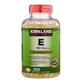 Vitamin E 400 IU Kirkland của Mỹ hộp 500 viên