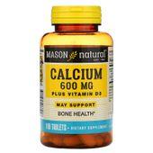 Viên uống hỗ trợ xương khớp Mason Natural Calcium 600mg + D3