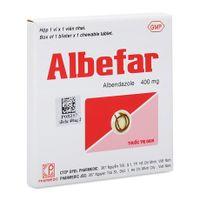 Albefar-Trị giun đũa, giun kim, giun tóc, giun móc,giun lươn