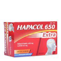 Thuốc giảm đau hạ sốt không gây buồn ngủ Hapacol Extra 650mg