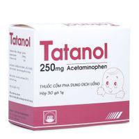 Thuốc giảm đau, hạ sốt Tatanol 250mg (hộp/30 gói)