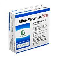 Viên nén sủi bọt giảm đau, hạ sốt Effer- Paralmax 500mg