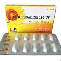 Thuốc trị viêm mũi dị ứng và nổi mề đay Fexofenadine 180-us