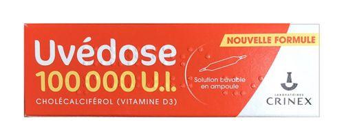 Vitamin D3 Uvedose liều cao 100000 UI-1 liều cho 3 tháng