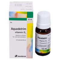 Aquadetrim Vitamin D3 hàng ngoại lọ 10ml
