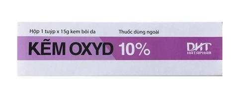 Kem bôi dùng ngoài Kẽm Oxyd 10% trị viêm da