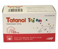 Thuốc hạ sốt Tatanol trẻ em 120mg vỉ 20 viên