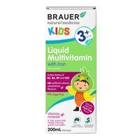 Vitamin tổng hợp cho bé từ 3 tuổi Brauer Liquid Multivitamin