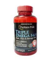 Omega 3 6 9 Fish & Flax Oils Puritan's Pride hộp 120 Viên