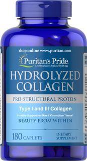 Collagen thủy phân Puritan's pride hydrolyzed collagen 1000mg