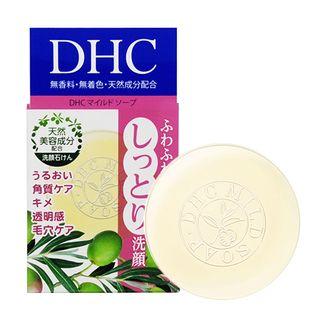 Xà phòng rửa mặt, tẩy tế bào chết DHC Mild Soap của Nhật