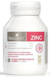 Viên hỗ trợ bổ sung cho bé Bio Island Zinc 120 viên