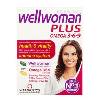Vitamin Wellwoman Plus Omega 3,6,9 cho nữ trên 20 tuổi