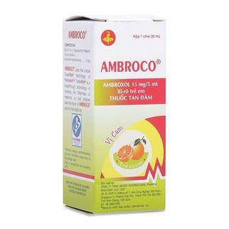 Sirô tan đờm Ambroco dành cho trẻ em (30ml)- Xuất xứ Mỹ