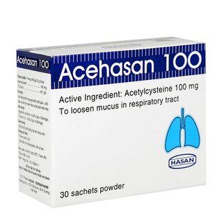 Thuốc bột Acehasan 100- Loãng đờm đường hô hấp (Hộp 30 Gói)