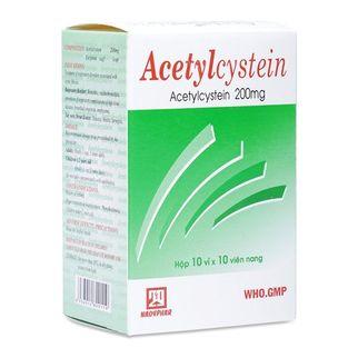 Thuốc điều trị bệnh đường hô hấp Acetylcystein (200mg)