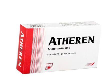 Thuốc điều trị dị ứng hô hấp Atheren 5mg(2 vỉ x 25viên/ hộp)