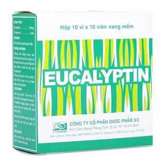 Thuốc hỗ trợ sát trùng đường hô hấp Eucalyptin(100 viên/hộp)