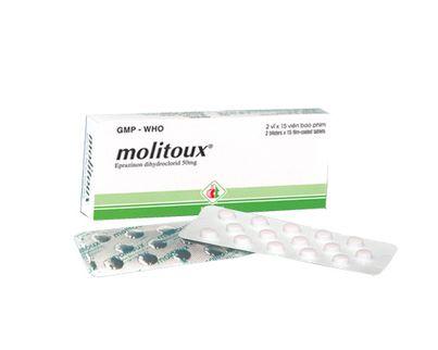 Thuốc trị ho- long đờm Molitoux 50mg (2 vỉ x 15 viên/ hộp)