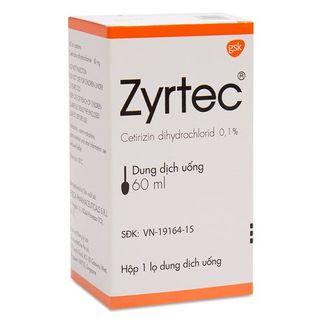 Dung dịch uống trị viêm mũi dị ứng và mề đay Zyrtec (60ml)