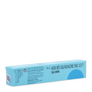 Kem bôi Sulfadiazine bạc U.S.P Silvirin tuýp 20g