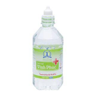 Nước muối sinh lý Vĩnh Phúc Natriclorid 0.9% (500ml)
