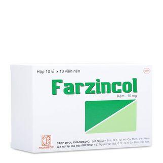 Thuốc bổ sung kẽm Frazincol ( Hộp 10 vỉ x 10 viên)