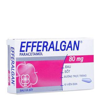 Thuốc điều trị các triệu chứng đau đầu Efferalgan (80mg)
