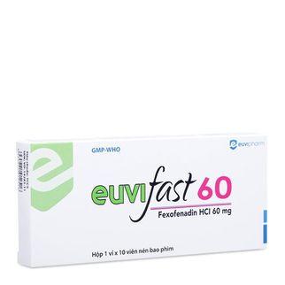 Thuốc điều trị viêm mũi dị ứng  Euvifast 60mg (Hộp 10 viên)