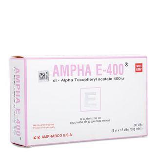 Thuốc dự phòng & trị tình trạng thiếu Vitamin E Ampha E- 400