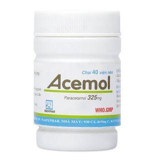 Thuốc giảm đau- Hạ sốt Acemol 325mg (40 viên/chai)
