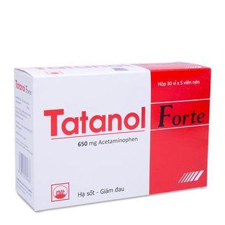 Thuốc giảm đau và hạ sốt Tatanol Forte (30 vỉ x 5 viên nén)