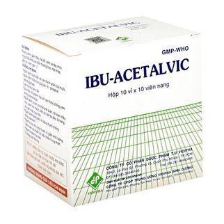 Thuốc kháng viêm, giảm đau, hạ sốt Ibu- Acetalvic